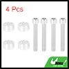 4pcs 6mm Racing Car Aluminum Alloy Cup Washer Bolt Kit Silver Tone Universal