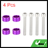 4pcs 6mm Racing Car Dress Up Aluminum Alloy Cup Washer Bolt Kit Purple Universal