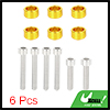 6pcs 6mm Racing Car Aluminum Alloy Cup Washer Bolts Kit Gold Tone Universal