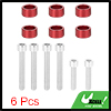 6pcs 6mm Racing Car Dress Up Aluminum Alloy Cup Washers Bolts Kit Red Universal