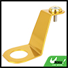 Aluminum Alloy Radiator Stay Bracket with Washer Gold Tone Kit for Honda Civic