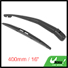 Rear Windshield Wiper Blade Arm Set for 2010-2016 Nissan Micra - 400mm 16inch