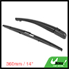 Rear Windshield Wiper Blade Arm Set for 2003-2007 Peugeot 307 SW - 360mm 14inch