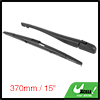 Rear Windshield Wiper Blade Arm Set for 1998-2011 Peugeot 206 - 370mm 15inch