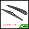 Rear Windshield Wiper Blade Arm Set for 2002-2008 Renault Megane - 240mm 10 inch