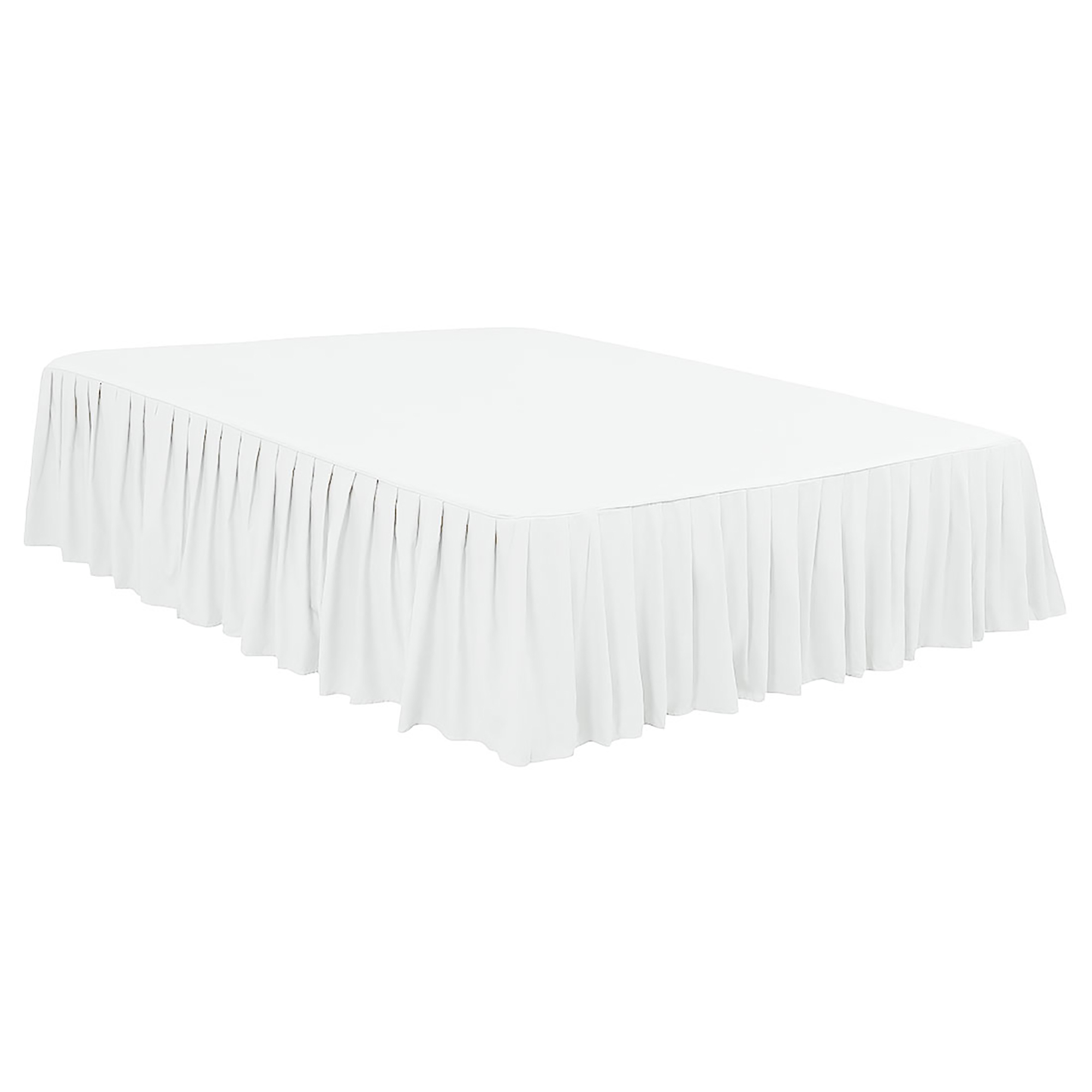 """Ruffled Bed Skirts Polyester Brushed Soft Platform 16"""" Drop Snow White Full"""