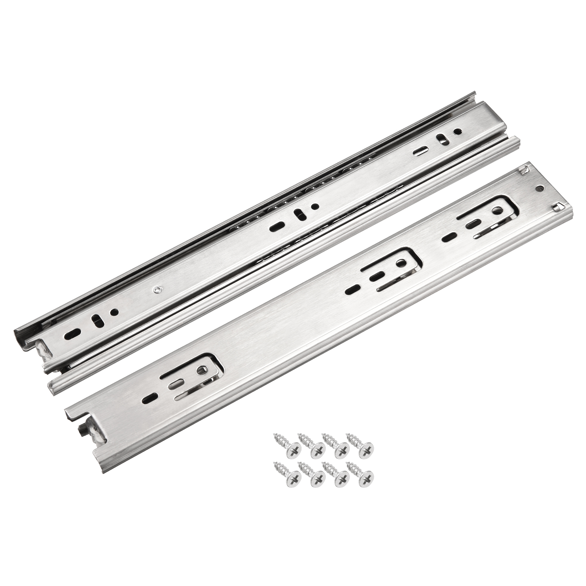 11.8Inch Drawer Slides Ball Bearing Track Rail 45mm Wide 3 Sections 1 Pair