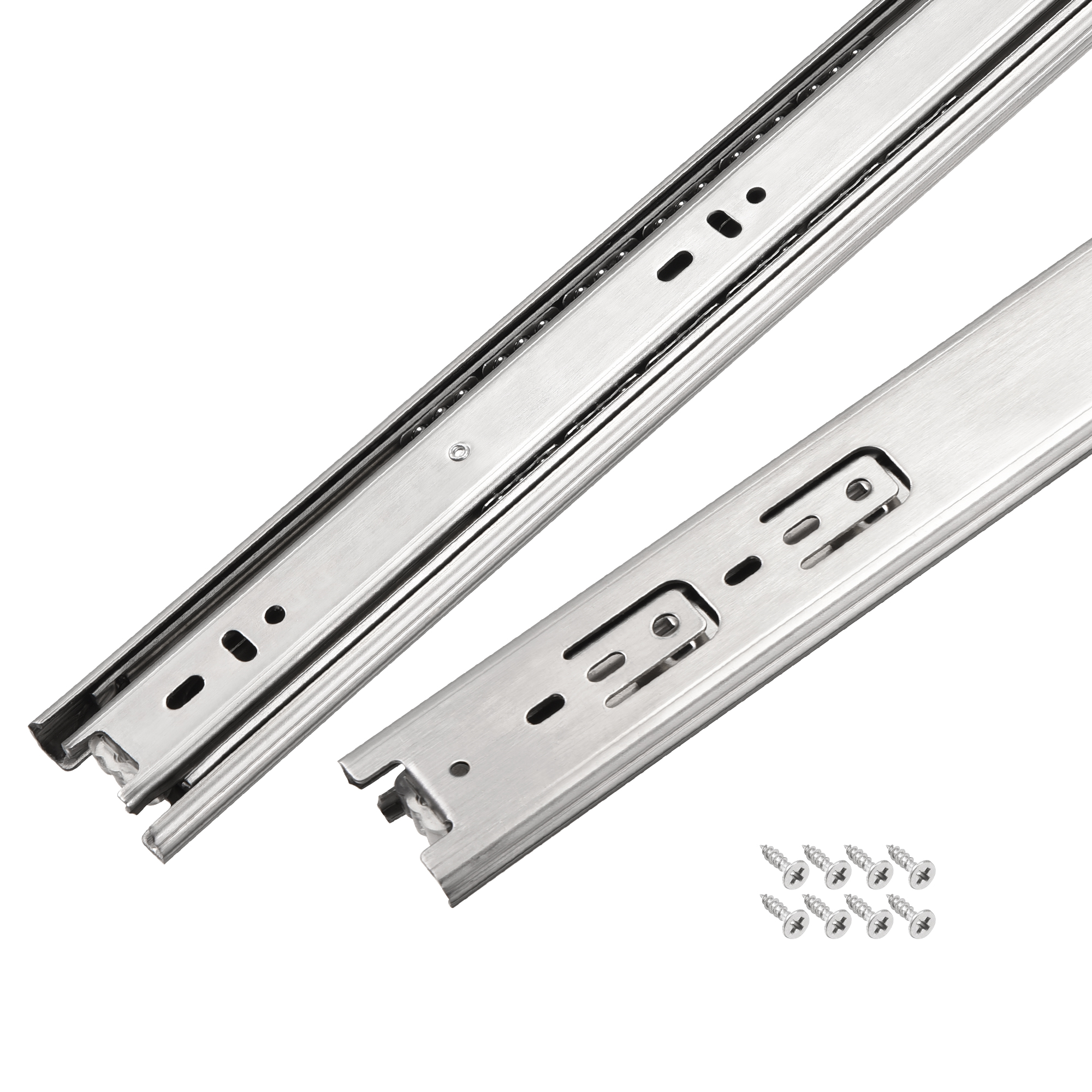 15.7Inch Drawer Slides Ball Bearing Track Rail 45mm Wide 3 Sections 1 Pair