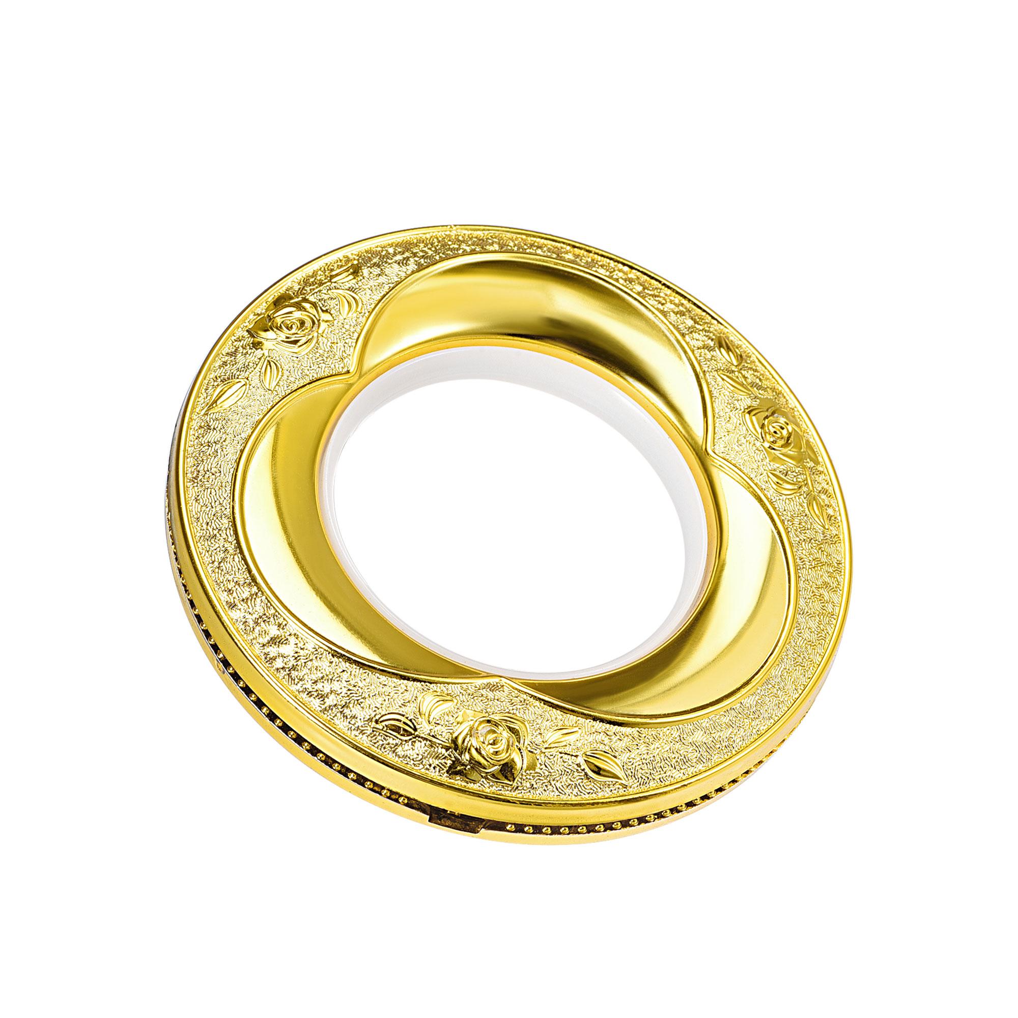 42mm Curtain Grommets Eyelets Roman Rings Home Decor Bright Gold 16pcs