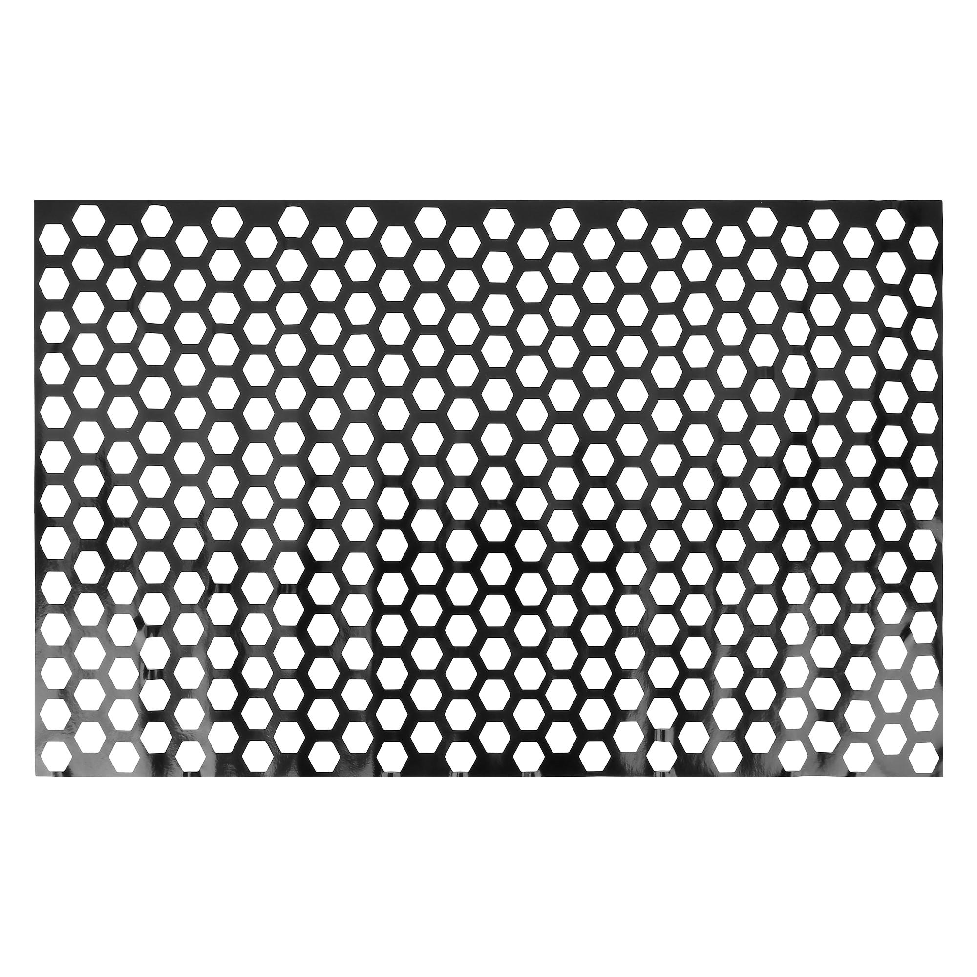 Universal Car Rear Tail Light Lamp Stickers Honeycomb Type Decal Black 48 x 30cm