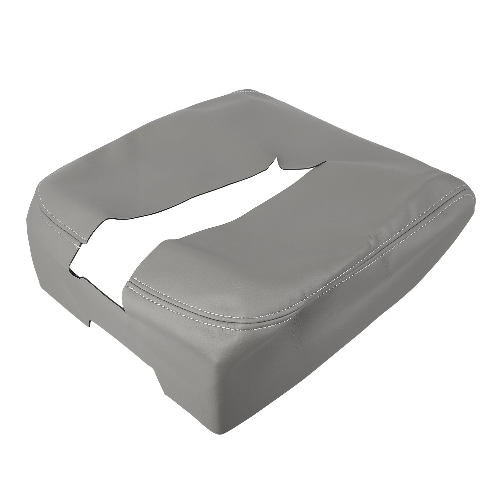 Car Center Console Lid Armrest Pad Cover Gray for Chevrolet Tahoe 2007-2014
