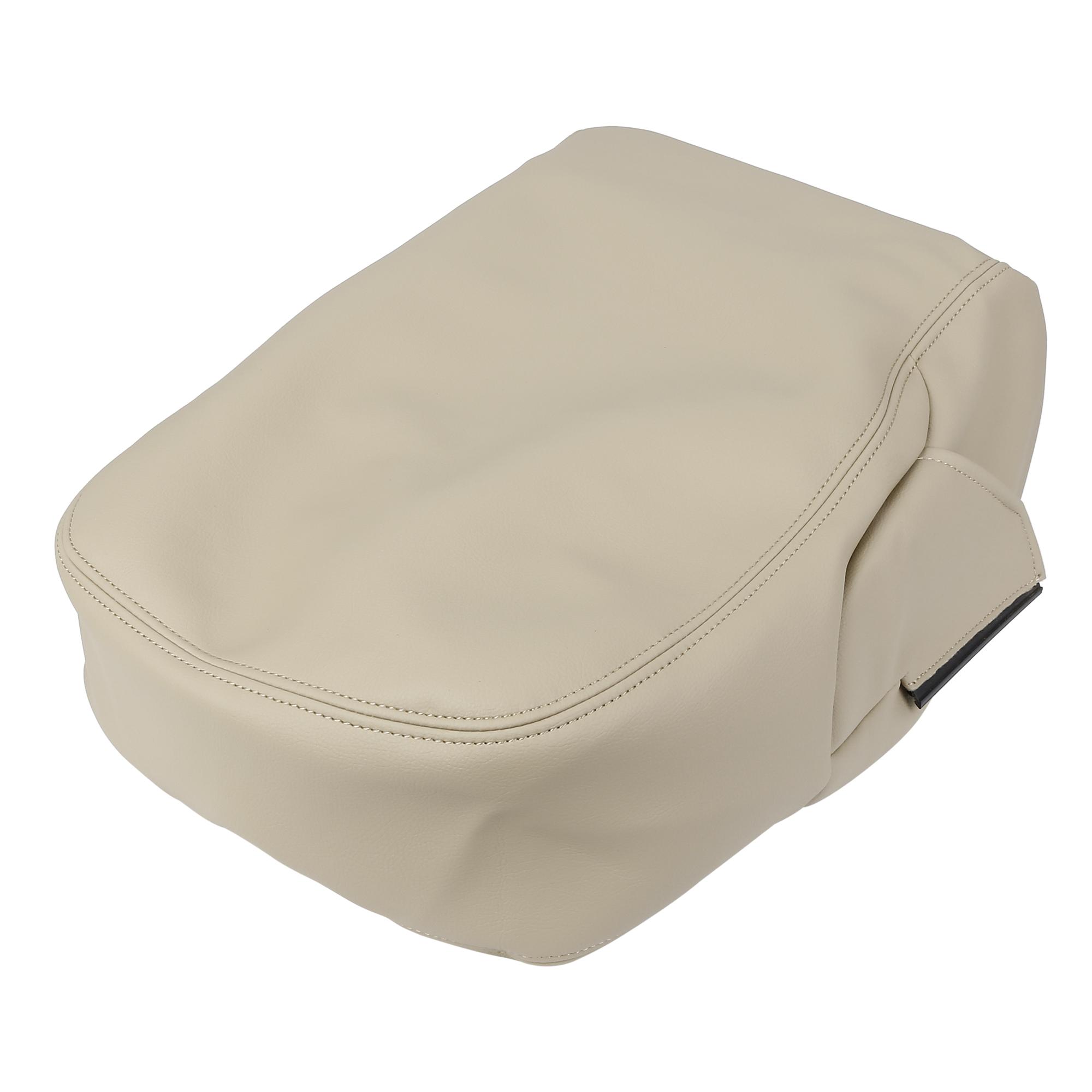 Car Center Console Lid Armrest Pad Cover Beige for Chevrolet Silverado 2007-2014