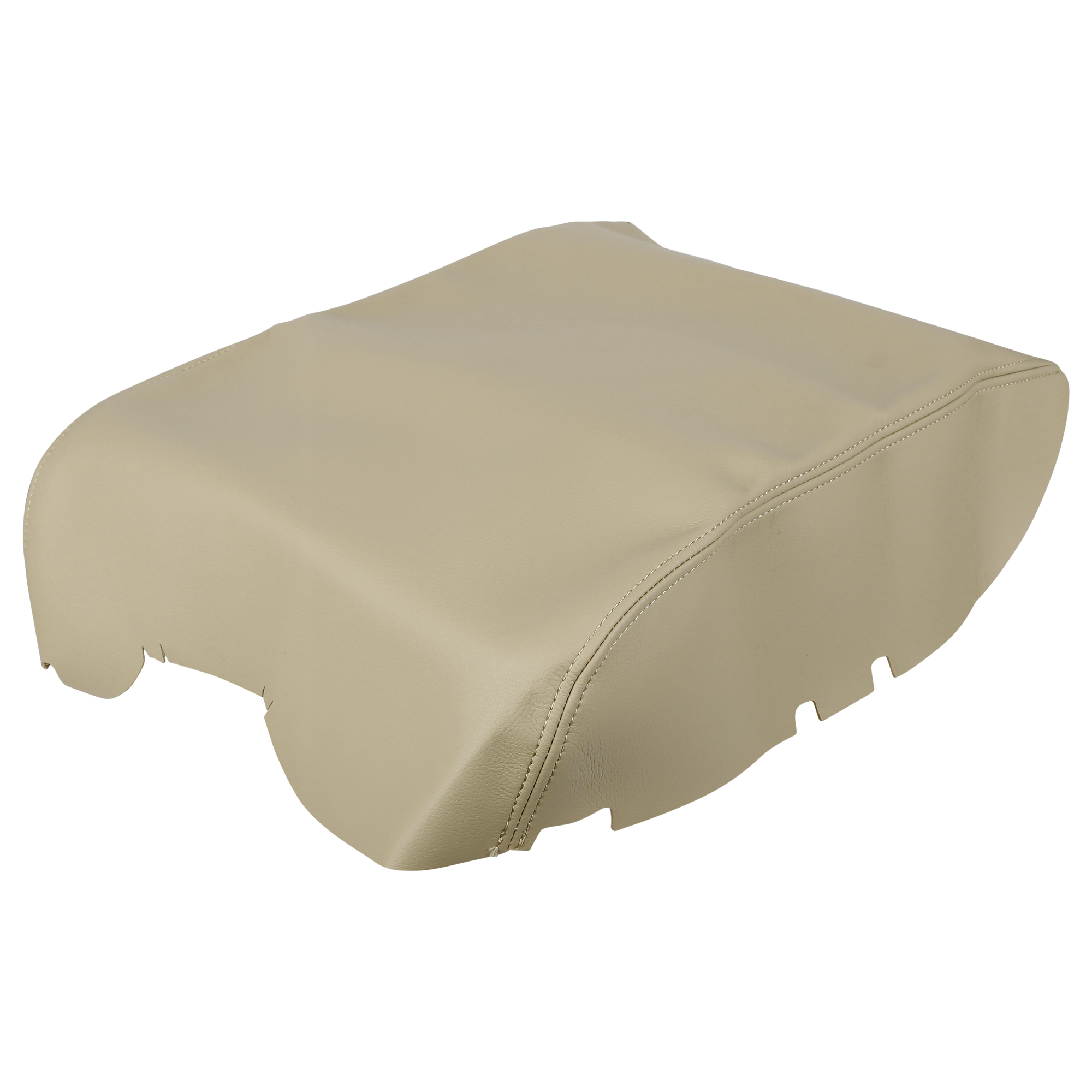 Car Center Console Lid Armrest Pad Cover Beige for Toyota Tundra 2008-2013