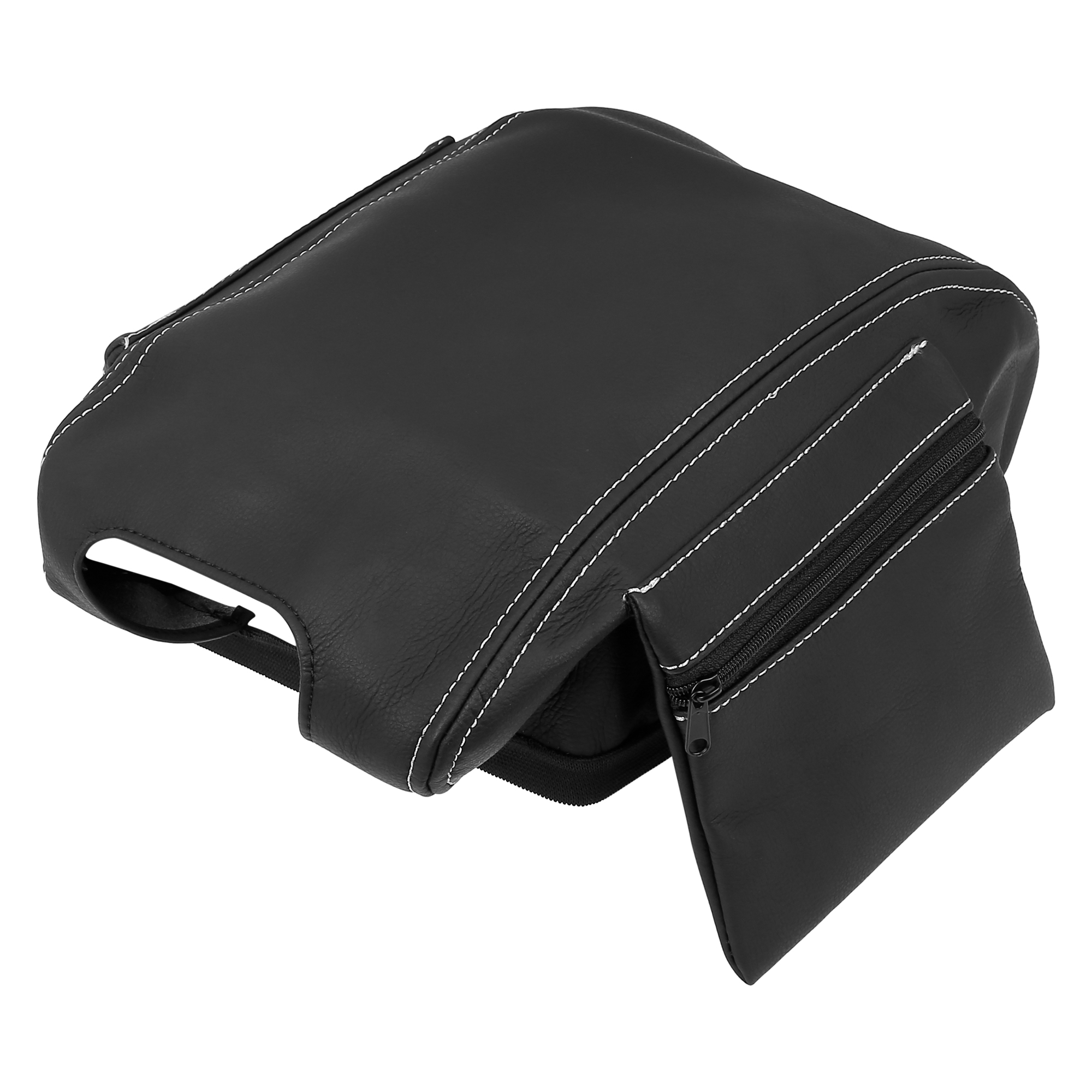 Car Center Console Lid Armrest Pad Cover Black with Bag for Jeep Wrangler 11-17