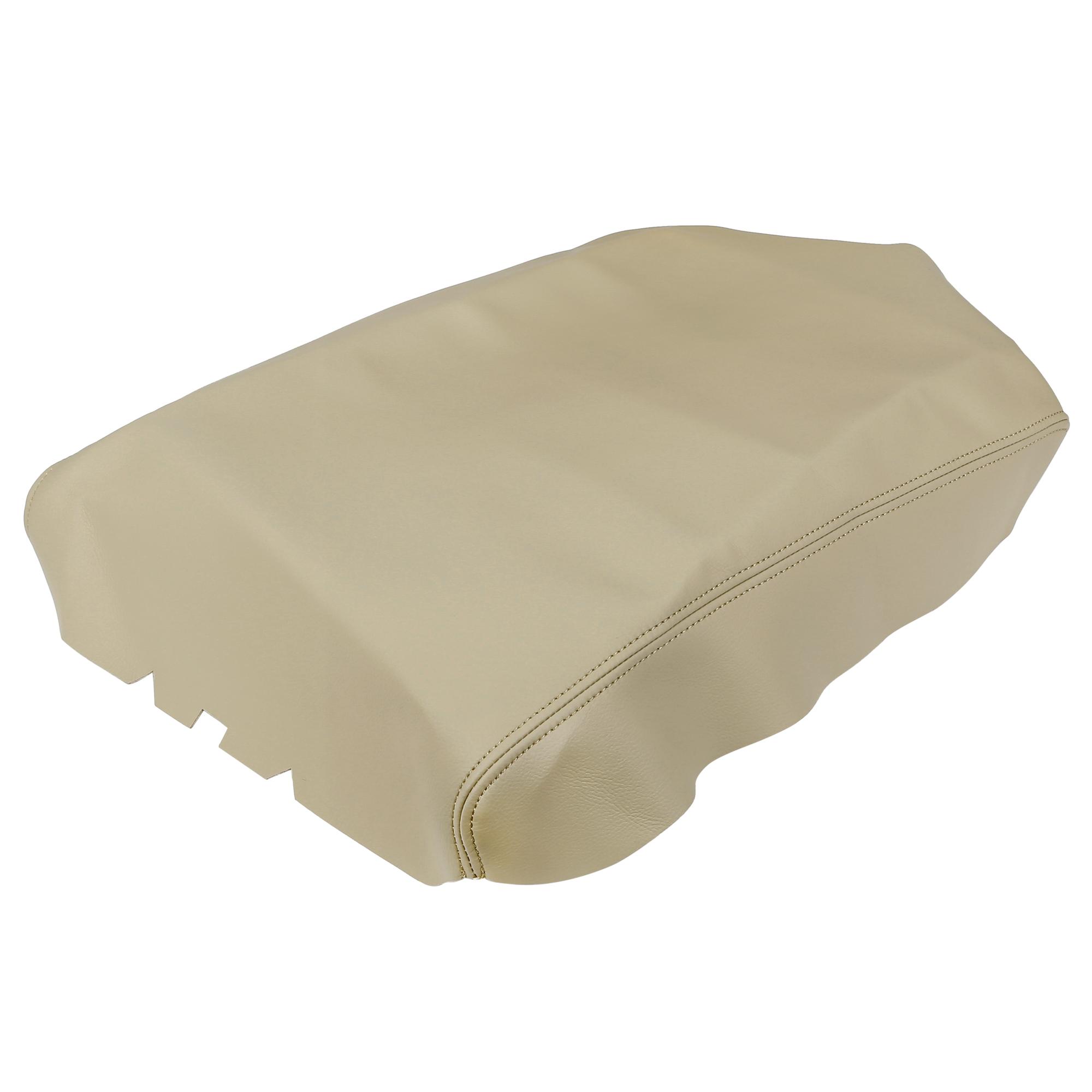 Car Center Console Lid Armrest Pad Cover Beige for Nissan Titan 2004-2014