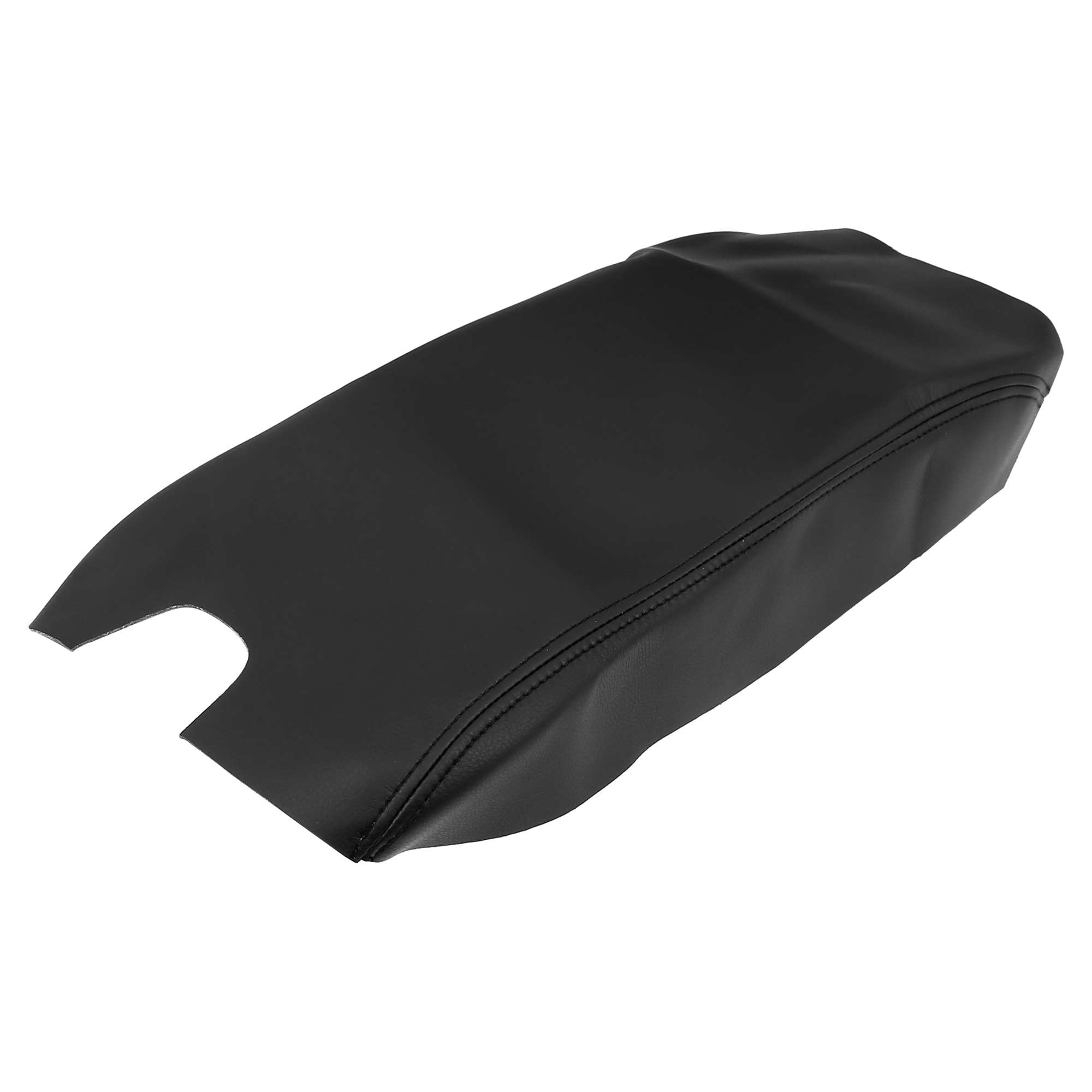 Car Center Console Lid Armrest Pad Cover Black for Ford F150 2009-2014