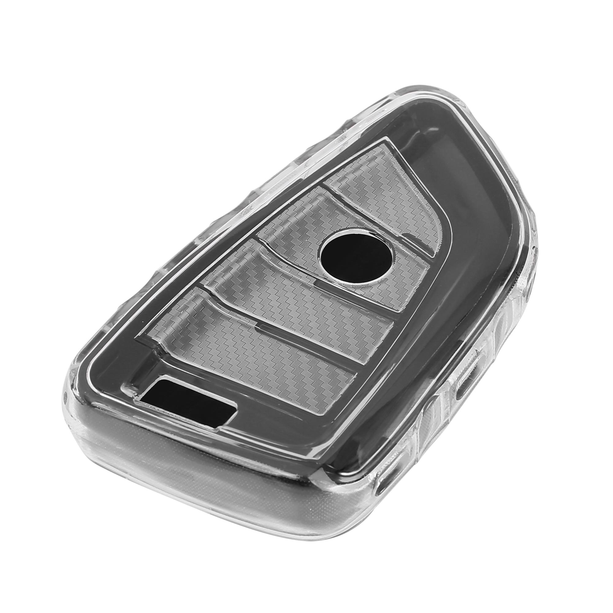 TPU Car Key Fob Case Cover Holder for BMW 5 7 Series X3 X1 X5 X6 Black