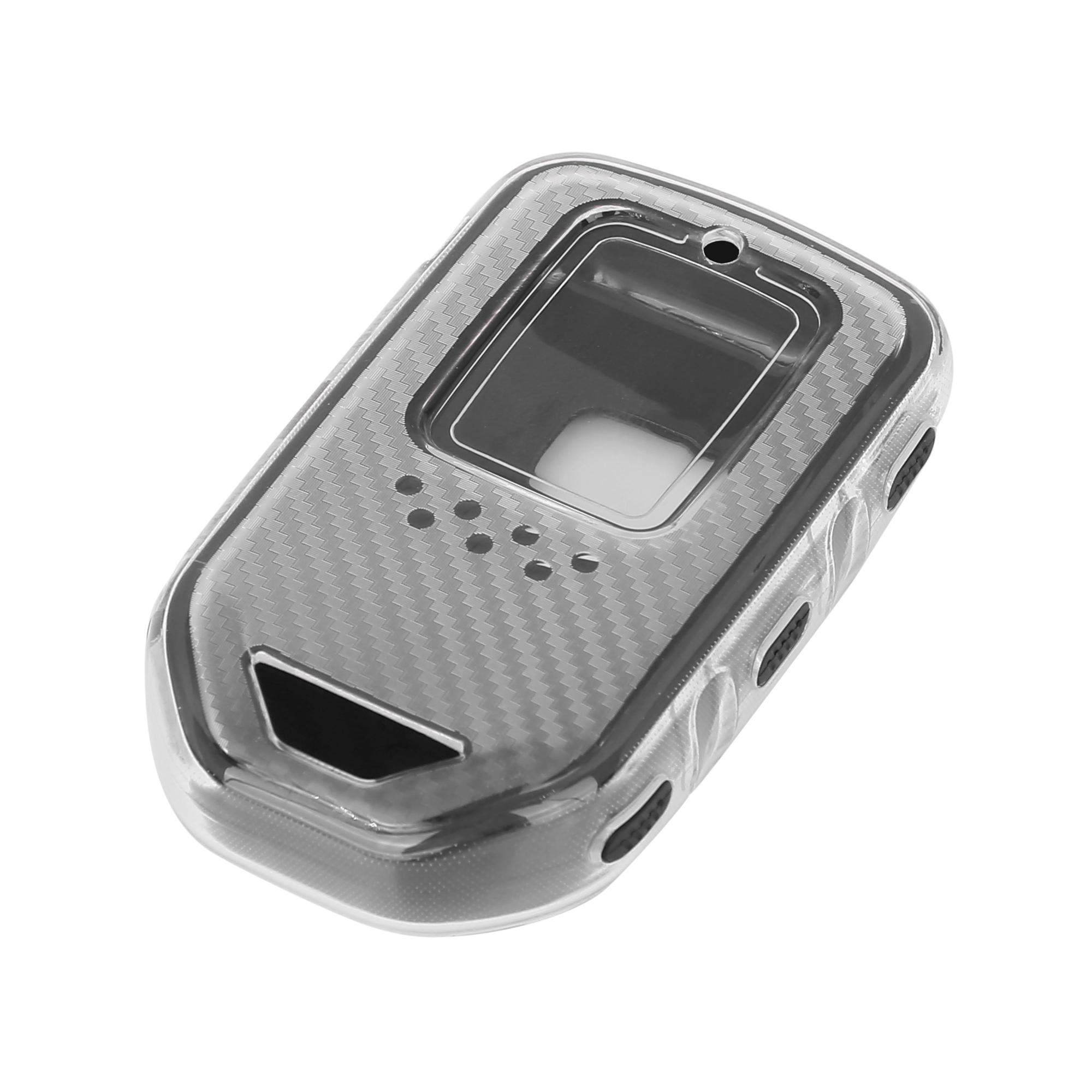 Keyless Remote Key Case Key Fob Shell Cover Case for Honda Accord Civic Black