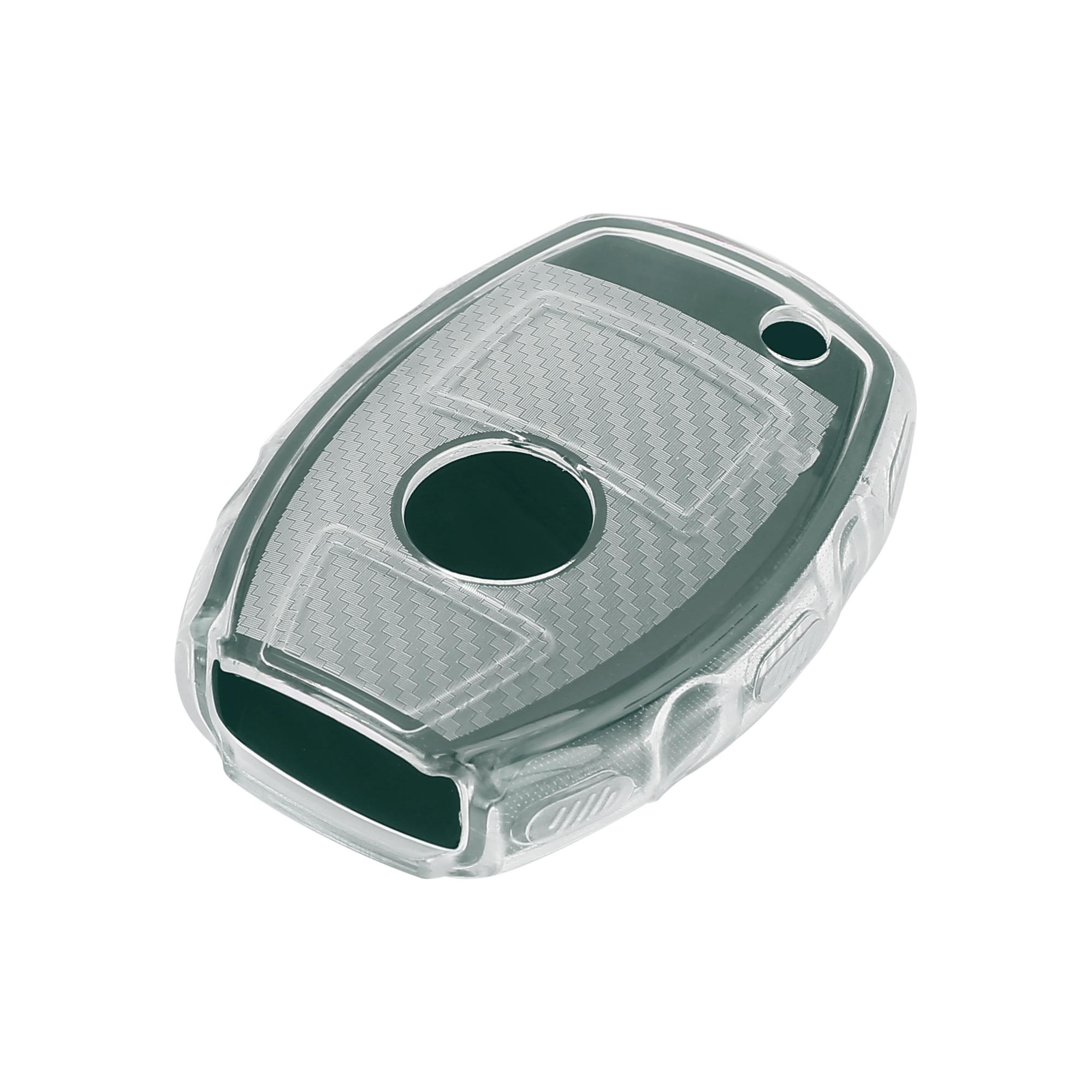 Keyless Remote Key Case Key Fob Shell Cover for Mercedes Benz Dark Green
