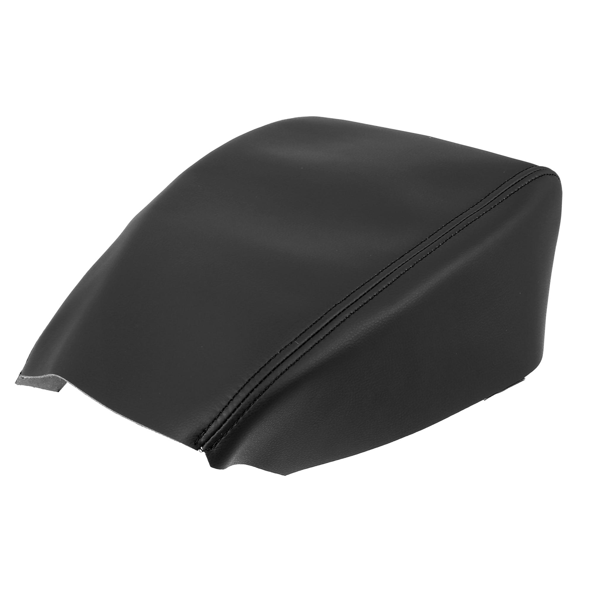 Car Center Console Lid Armrest Pad Cover Black Line for Mazda CX5 2018-2020