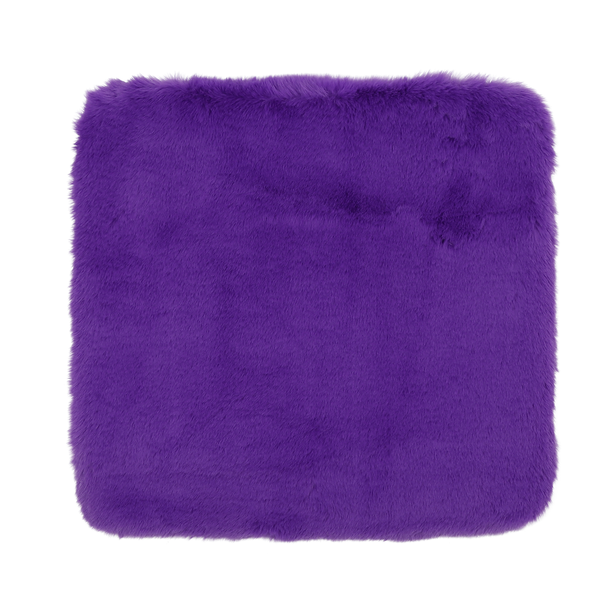 Universal Soft Faux Plush Cushion Warm Interior Seat Cover Pad for Auto Purple