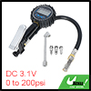 Car Digital Tire Inflator Pressure Gauge Set 200 PSI with Dual Head Air Chuck