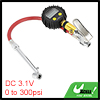 Car Digital Tire Inflator Gauge Gold Tone 0 to 300 PSI w Dual Head Air Chuck
