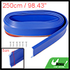 98.43'' Universal Blue Front Bumper Lip Protector Strip for Car Truck SUV