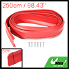 98.43'' Universal Red Front Bumper Lip Protector Strip for Car Truck SUV