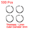 500pcs 8mm Open Jump Rings Iron Keychain Connector - Necklace Bracelet Pendant