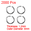2000pcs 8mm Open Jump Rings Iron Keychain Connector - Necklace Bracelet Pendant