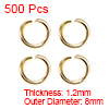 500pcs Golden 8mm Open Jump Rings Keychain Connector - Necklace Bracelet Pendant