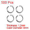 500pcs 8mm Open Jump Rings Silver Keychain Connector Necklace Bracelet Pendant