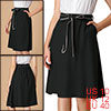 Allegra K Women's Bow Knot A-line Contrast Belted Skirt Black M