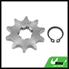 428 Chain 10T 17mm Motorcycle ATV Dirt Bike Front Engine Sprocket Titanium Tone