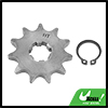 428 Chain 11T 17mm Motorcycle Dirt Bike Front Engine Sprocket Titanium Tone