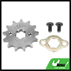 428 Chain 13T 17mm Motorcycle Dirt Bike Front Engine Sprocket Titanium Tone