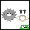 428 Chain 14T 17mm Motorcycle Dirt Bike Front Engine Sprocket Titanium Tone