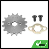 428 Chain 16T 17mm Motorcycle Dirt Bike Front Engine Sprocket Titanium Tone