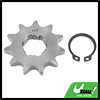 428 Chain 11T 20mm Motorcycle Dirt Bike Front Engine Sprocket Titanium Tone