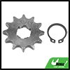 428 Chain 12T 20mm Motorcycle Dirt Bike Front Engine Sprocket Titanium Tone