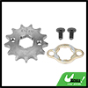 428 Chain 13T 20mm Motorcycle Dirt Bike Front Engine Sprocket Titanium Tone