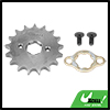 428 Chain 17T 20mm Motorcycle Dirt Bike Front Engine Sprocket Titanium Tone