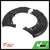 Pair Front Brake Disc Dust Cover 1J0615311A 1J0615312A for VW Bora 1999-2005