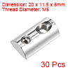 M5 Roll in Spring T-nut with Ball for 3030 Series Rail with 8mm Slot 30Pcs