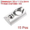 M8 Roll in Spring T-nut with Ball for 3030 Series Rail with 8mm Slot 15Pcs