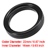 Fluorine Rubber Gasket Flange O-Ring for 0.75 Inch Vacuum Clamp Black