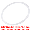 Silicone Rubber Gasket Flange O-Ring for 6.25 Inch Vacuum Clamp White
