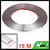 15mx15mm PVC Silver Tone Trim Strip for Car Body Door Side Roof Window Decorate