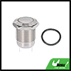 """12mm 0.47"""" Momentary Latching Push Button Switch 24V 2 Pin Round Cap Metal"""